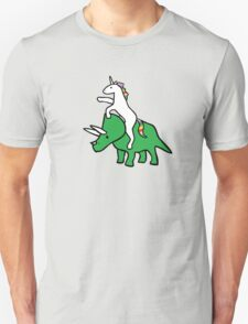 Unicorn Riding Triceratops T-Shirt