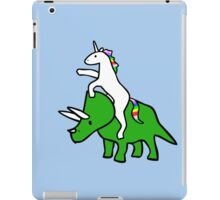 Unicorn Riding Triceratops iPad Case/Skin