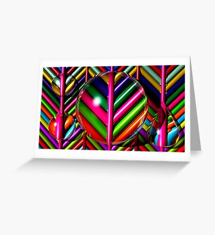 Stripes and Drops Greeting Card