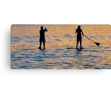 Paddle Boarders at Bondi Canvas Print