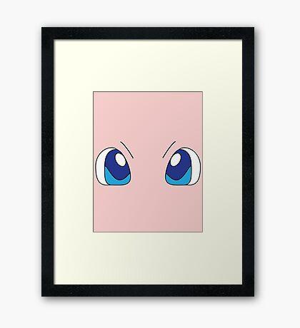 Mew Eyes Framed Print