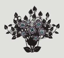 Fantasy Flowers - Black Floral Silhouette by Cherie Balowski