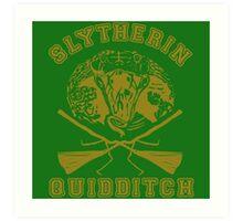 Slytherin quidditch Art Print