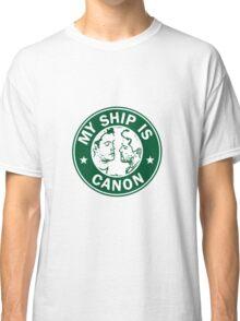 Starbucks/My Ship Is Canon- Destiel Classic T-Shirt
