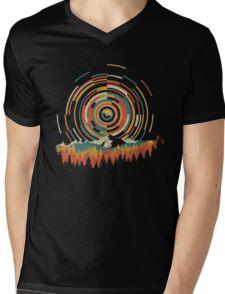 The Geometry of Sunrise Mens V-Neck T-Shirt
