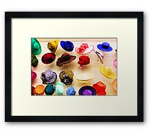 The Great Wall of Hats Framed Print