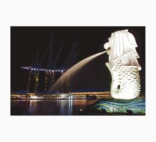 The Singapore Merlion at Marina Bay Kids Clothes