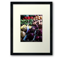organic vegetables Framed Print