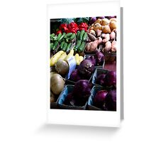 organic vegetables Greeting Card