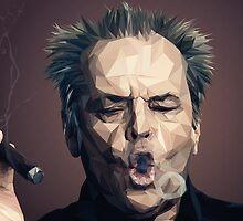 Jack Nicholson - Low poly by Paul DOUARD
