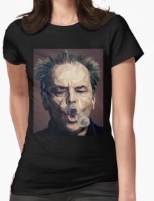 Jack Nicholson - Low poly Womens Fitted T-Shirt