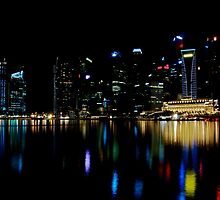 The Colours of the Singapore Skyline by tpixx