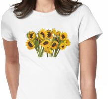 Crowd of Sunflowers Womens Fitted T-Shirt