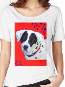 black & white dog Women's Relaxed Fit T-Shirt