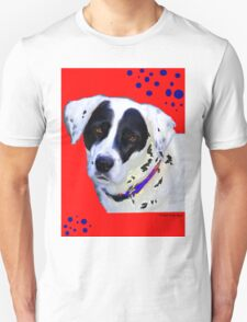 black & white dog Unisex T-Shirt