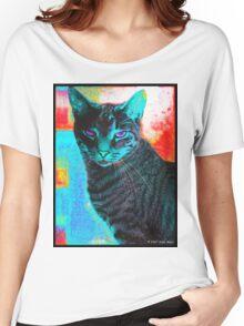 digital cat Women's Relaxed Fit T-Shirt