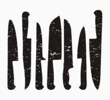 Black chef's knives deisgn by sledgehammer