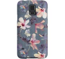 Butterflies and Hibiscus Flowers - a painted pattern Samsung Galaxy Case/Skin