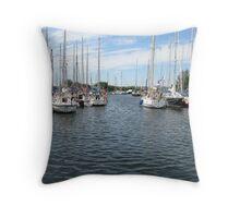Chelmer Canal Throw Pillow