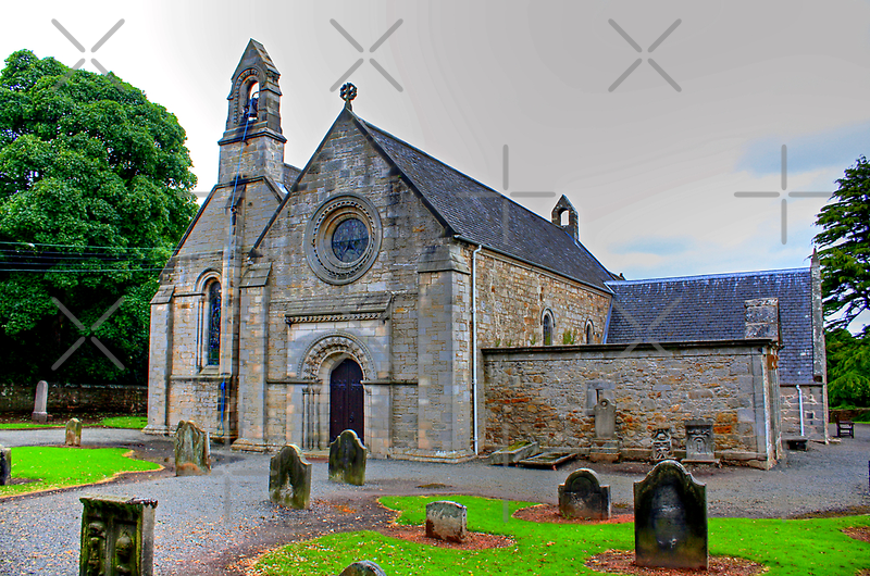 Abercon Church West Side by Tom Gomez