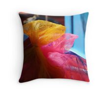 Lucky Ribbons Throw Pillow