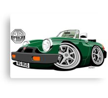 MG MGB 'rubber bumper' caricature green Canvas Print