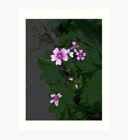 Pink is a Flower Art Print