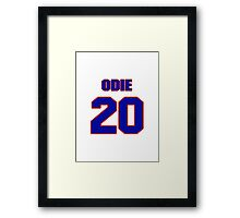 Basketball player Odie Spears jersey 20 Framed Print