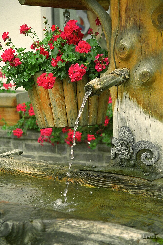 Water and flowers by Lenka