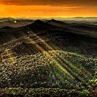 Orange Sunset by Scott Ward