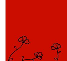 Simple Red with Flowers by Maison Mendoza