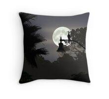 Florida Moonlight Throw Pillow
