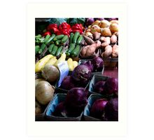 Organic Vegetables Art Print
