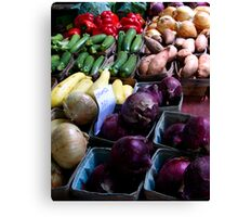 Organic Vegetables Canvas Print