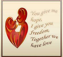 Together We Have Love Greeting Card by taiche