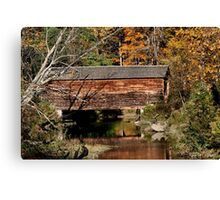 Hyde Hall Covered Bridge Canvas Print