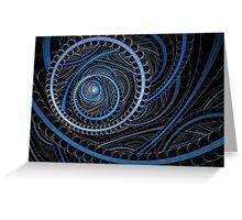Blue Circular Greeting Card