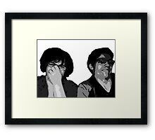 The Recliner Cast Logo! Framed Print