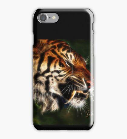 C.E. Saber Tooth Tiger Fractal Art iPhone Case/Skin