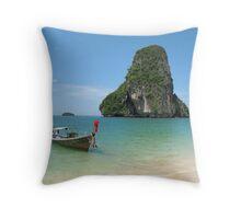 Beach in Thailand Throw Pillow