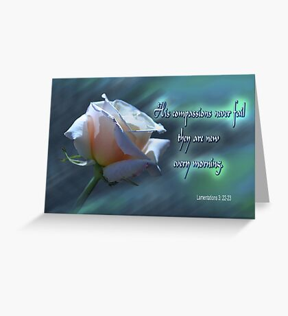 New Every Morning Greeting Card
