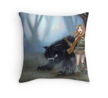Twisted Tales - Red Throw Pillow