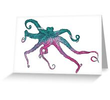 Vector illustration with octopus Greeting Card