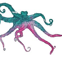 Vector illustration with octopus by OlgaBerlet