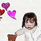 Baby Hearts and Bear by jpryce