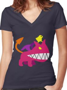 Mother 3 Ultimate Chimera Women's Fitted V-Neck T-Shirt