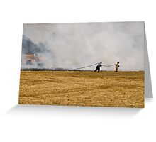 Quelling Flames Greeting Card