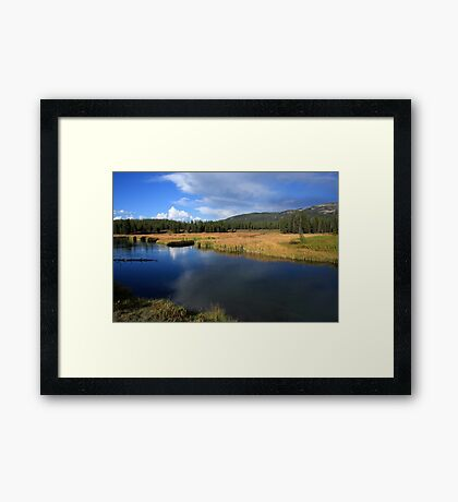 Tranquil Yellowstone Framed Print