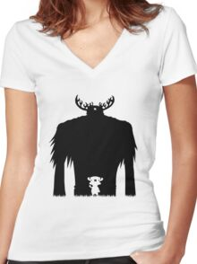 A Big Friend Of Mine Women's Fitted V-Neck T-Shirt