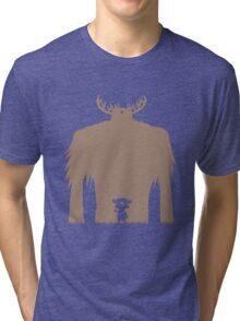 A Big Friend Of Mine - Light Brown Tri-blend T-Shirt